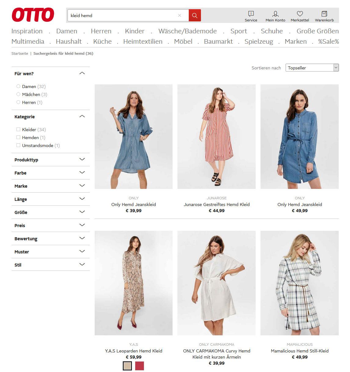 Каталог платьев OTTO